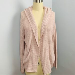 Express Hooded Open Cardigan Sweater